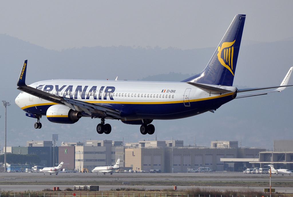 Ryanair Boeing 737-800 near Madrid on May 20th 2018, flaps