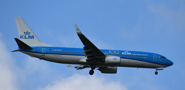 KLM Boeing 737-800 near Venice on May 29th 2019, flight ...