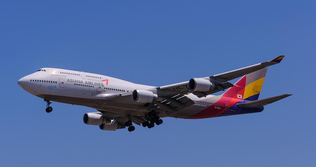 Asiana Boeing 747 400 Near Seoul On Sep 5th 2015 Fuel