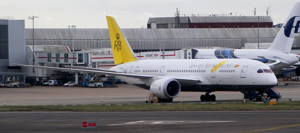 Royal Brunei Boeing 787-8 Dreamliner near Vienna on Nov 7th