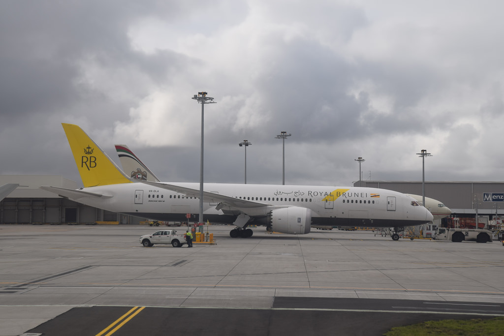 Royal Brunei Boeing 787-8 Dreamliner near Vienna on Nov 7th 2018