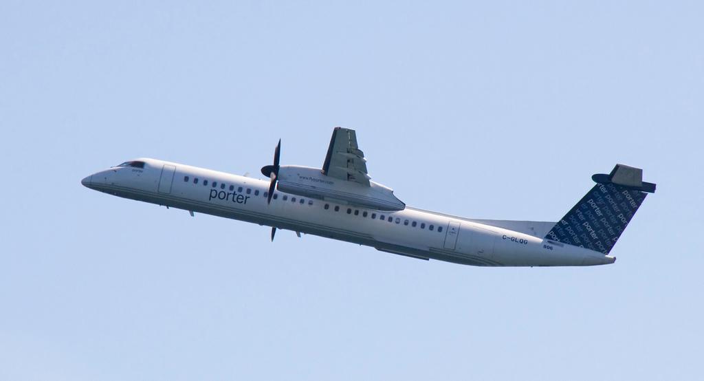 Porter De Havilland Dash 8 (400) at Windsor on Sep 21st 2012, tail